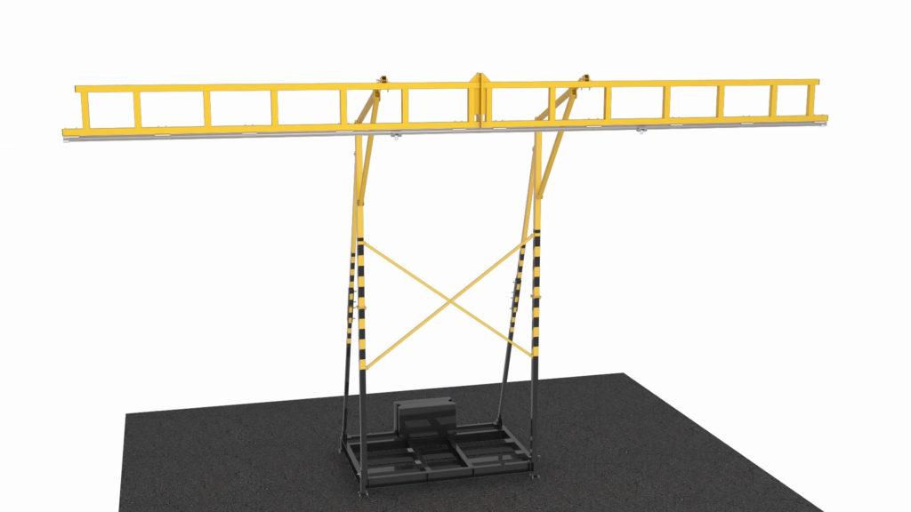 Опорная конструкция с анкерной линией «ЛАДОГА»