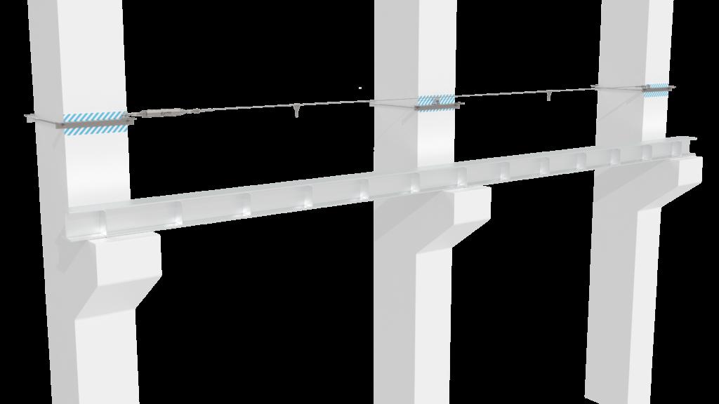 Монтаж гибкой анкерной линии «ДОН» на подкрановые пути