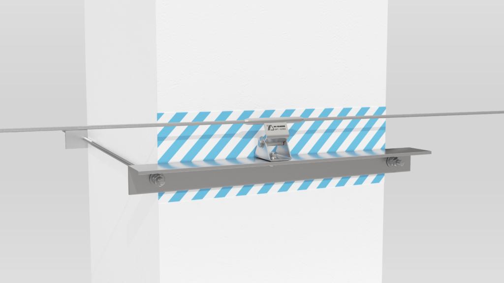 Монтаж гибкой анкерной линии ДОН на подкрановые пути