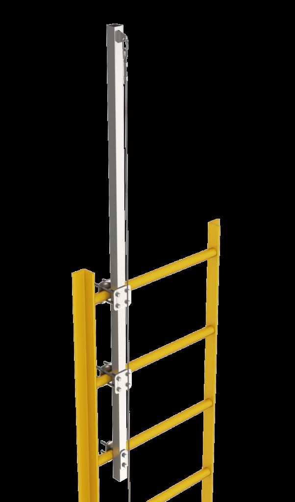 Крепление анкерной линии «ВИРА» на стационарные вертикальные лестницы