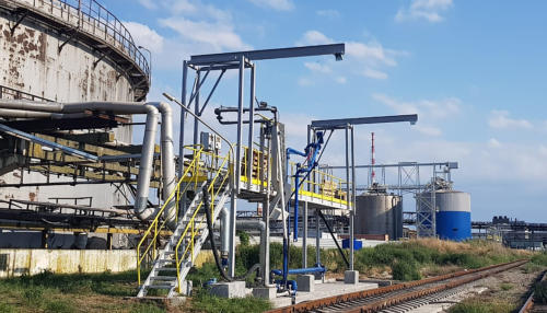 Опорные конструкции СЛОНЫ для последующей установки анкерной линии на эстакаду